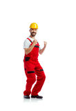 Young handsome worker Stock Image