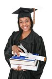 Young Happy African American Female Grad Stock Photo