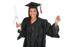 Young Happy African American Female Graduate Stock Photos