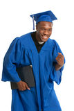 Young Happy African American Male Graduate Student Royalty Free Stock Photography