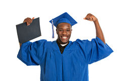 Young Happy African American Male Graduate Student Stock Photography