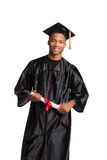 Young Happy African American Male Graduate Student Royalty Free Stock Image