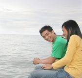 Young happy asian couple Stock Photography