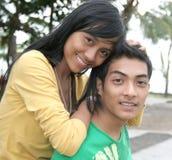 Young happy asian couple Stock Photos
