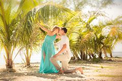 Young happy asian couple on honeymoon Royalty Free Stock Photo