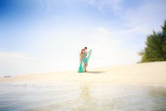 Young happy asian couple on honeymoon Royalty Free Stock Images