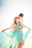 Young happy asian couple on honeymoon Royalty Free Stock Photography