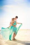 Young happy asian couple on honeymoon Royalty Free Stock Image
