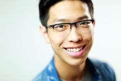 Young happy asian man Stock Photography