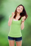 Young happy Asian woman. Stock Photography