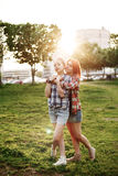 Young Happy Beautiful Best Friends Girls Royalty Free Stock Image