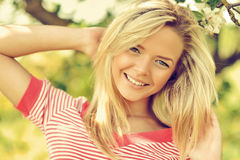 Young happy beautiful girl portrait close up Royalty Free Stock Photography