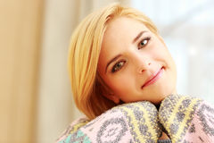 Young happy beautiful woman looking Royalty Free Stock Photo