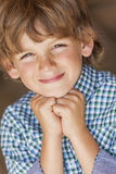 Young Happy Blond Boy Child Smiling Stock Images