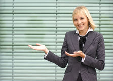 A young and happy blond businesswoman Stock Photo