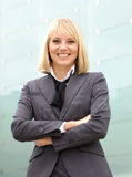 A young and happy blond businesswoman Stock Photography