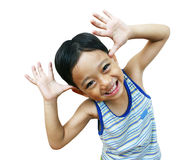 Young happy boy. Young asian boy very happy Royalty Free Stock Photos