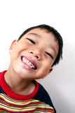 Young happy boy. Young asian boy very happy royalty free stock image