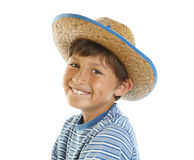Young happy boy in Cowboy Hat Stock Photos