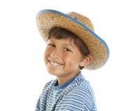 Young happy boy in Cowboy Hat Stock Photos