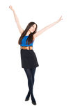 Attractive brunette celebrating victory Stock Images