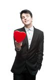 Young happy business man on valentine's day Royalty Free Stock Photos