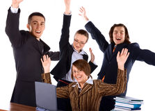Young happy business team Stock Images