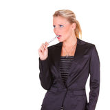 Young happy business woman Royalty Free Stock Photo