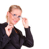 Young happy business woman Royalty Free Stock Photos