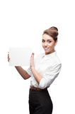 Young happy business woman Royalty Free Stock Image