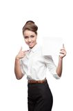 Young happy business woman Royalty Free Stock Photography