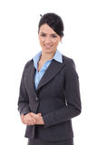 Young happy business woman Stock Images