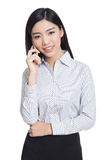 Young happy business woman, chinese Stock Photo