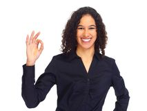 Young happy business woman portrait. Stock Photography