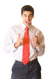 Young happy businessman Royalty Free Stock Photo