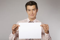 Young happy businessman Stock Photography