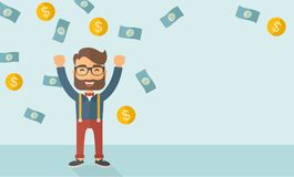 Young happy businessman Royalty Free Stock Image