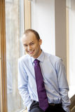 Young happy businessman smiling Stock Images