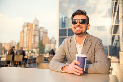 Young happy businessman Stock Photos