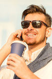 Young happy businessman Stock Photo