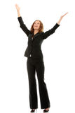 Young happy businesswoman Stock Photos