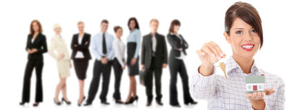 Young happy businesswoman Stock Photo