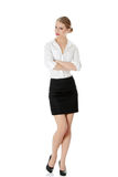 Young happy businesswoman Royalty Free Stock Photography