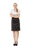 Young happy businesswoman royalty free stock photo