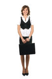 A young and happy businesswoman in formal clothes Royalty Free Stock Photography