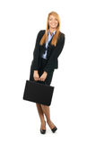 A young and happy businesswoman in formal clothes Stock Photography