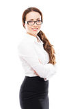 Young and happy businesswoman in formal clothes Stock Photography