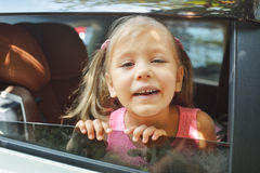 Young happy in  car Stock Image
