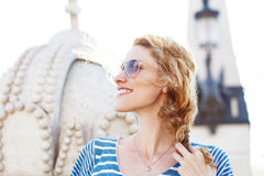 Young happy carefree woman Royalty Free Stock Photos