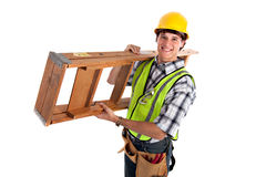 Young Happy Carpenter Royalty Free Stock Image